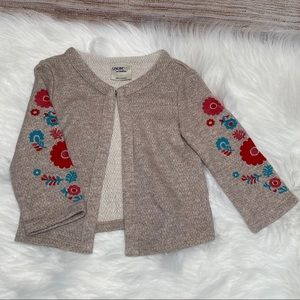 Genuine Kids by Oshkosh cardigan flower sleeves 3T